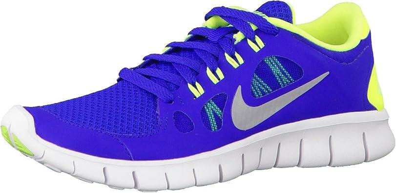 NIKE Free 5.0 Zapatilla de Running Junior, Azul/Amarillo, 36.5 ...