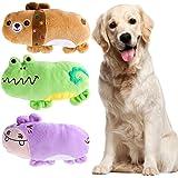 UEETEK Confezione da 3 Masticare Squeaky Giocattolo per Cani Cuccioli,Modello Orso Ippopotamo e di Rana Giocattoli di Cane da Peluche