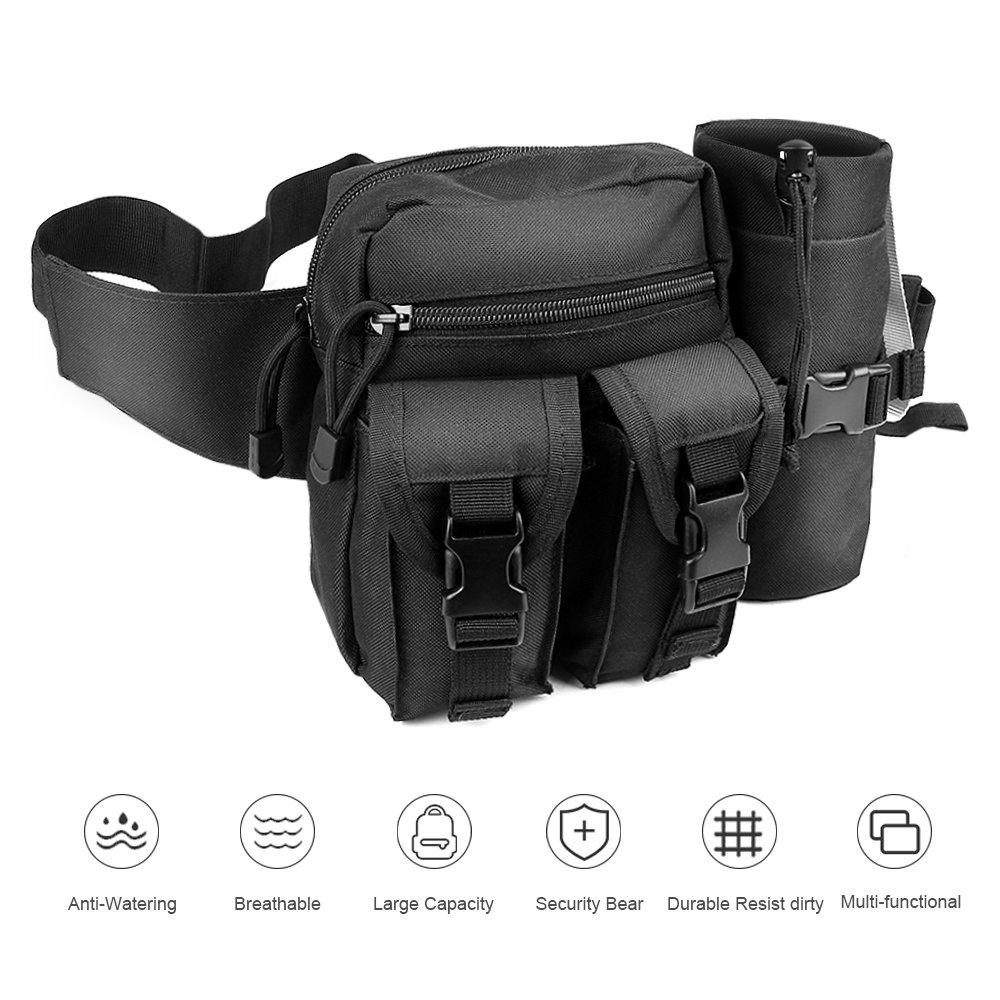 32c240db3 Details about Tactical Waist Bag Waterproof Bum bag Military Waist Utility  Belt Water Bottle