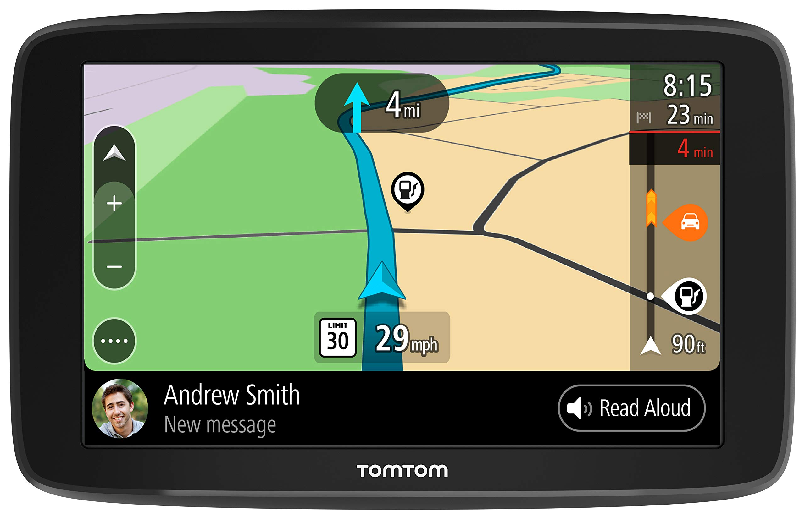 TomTom Smart Car GPS Navigation Go Comfort 6, with Updates via WiFi, Lifetime Traffic and Maps (Us-Can-Mex), Roadtrips