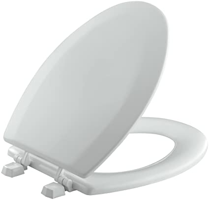 Terrific Kohler K 4712 T 95 Triko Elongated Molded Wood Toilet Seat With Color Matched Hinges Ice Grey Short Links Chair Design For Home Short Linksinfo