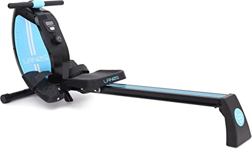 Lanos Rowing Machine 8-Level Adjustable Magnetic Resistance LCD Monitor Compact
