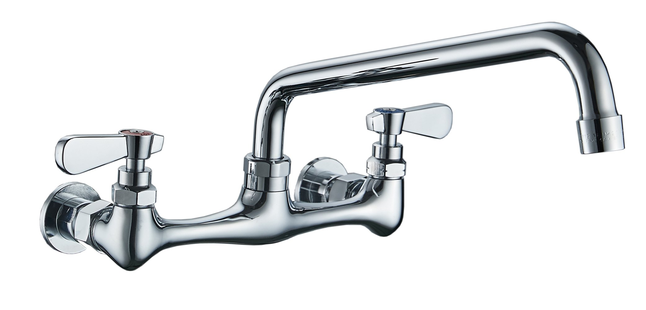 BWE NSF No Lead Faucet Commercial Sink Wall Mount Faucet 8\