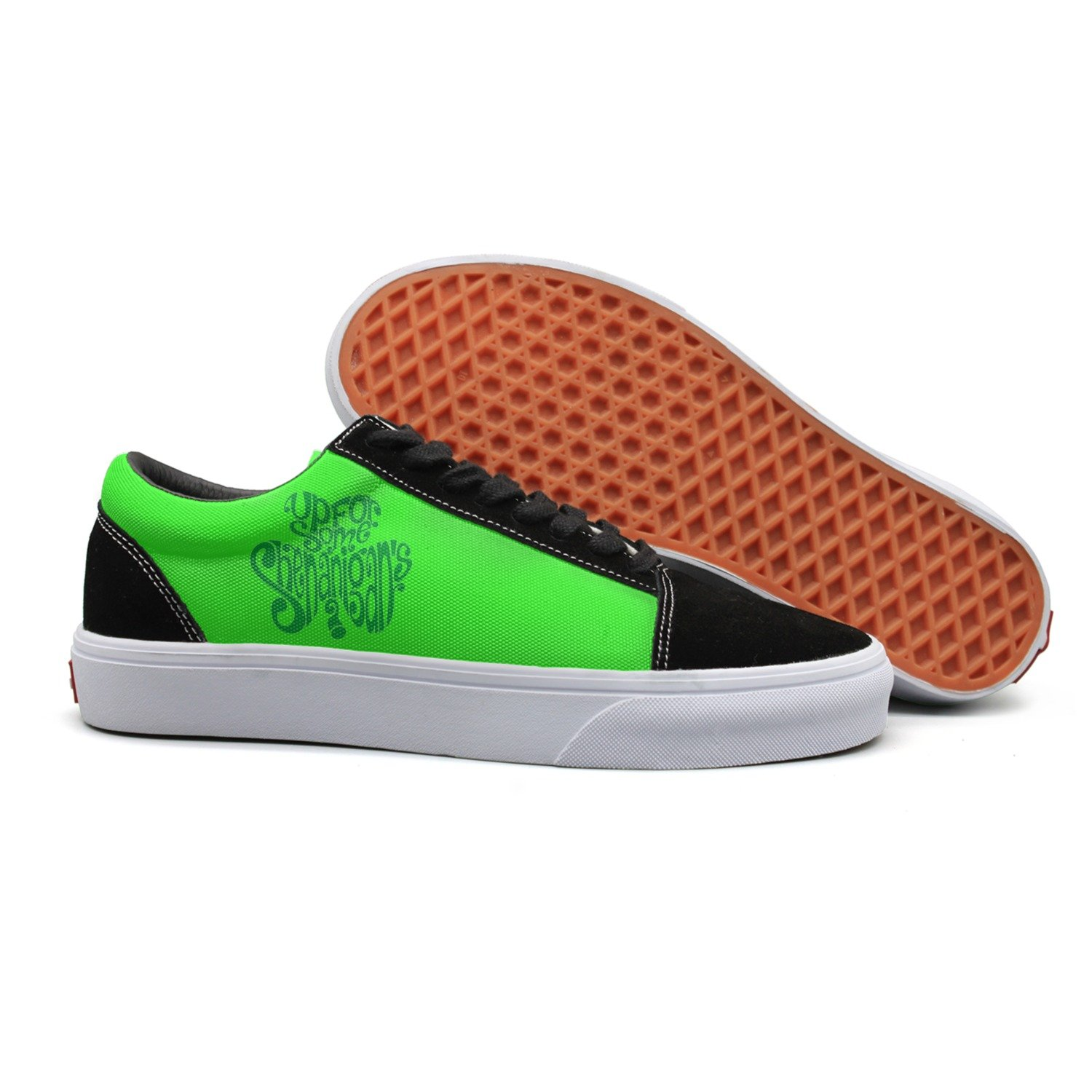 Patricks Day Walking Shoes Fashio Canvas Shoes For Women Happy St