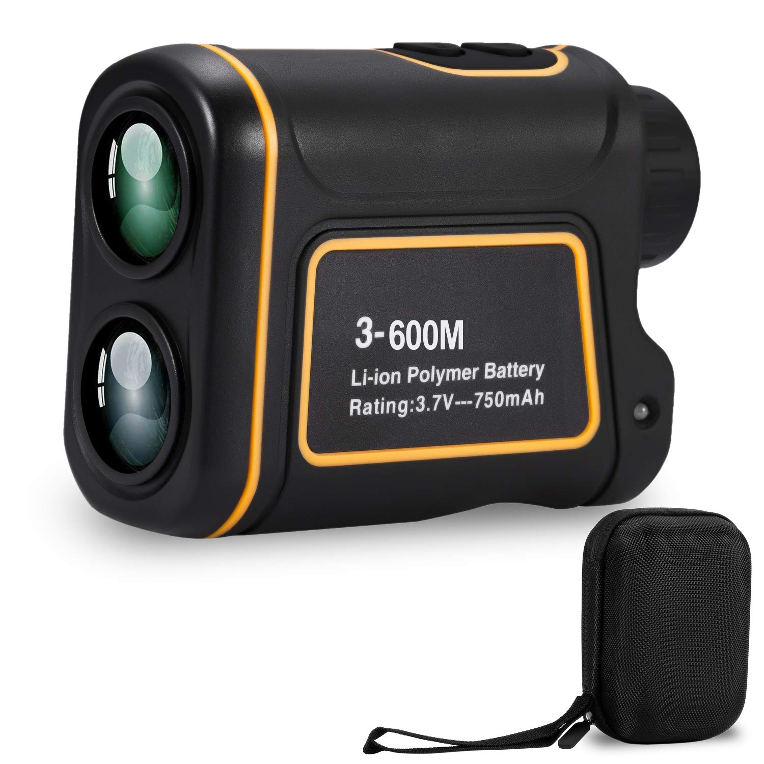 Deeteck Compact Golf Rangefinder,6X Rechargeable Laser Hunting Range Finder,600 Yards Accurate Distance Finder with FMC Optics Clear View,Support Scan,Speed,Angle,Flag Lock,Vertical Horizontal