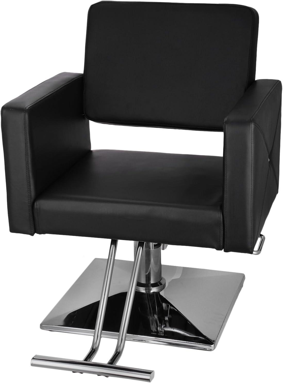 Sillas de Barbero 150kg Silla de Peluquería Hidráulica PU Cuero Silla de Peluquería Hydraulic Barber Chair para SPA Belleza