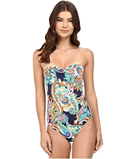 157d1903a6 Tommy Bahama Womens Paisley Leaves Plunge Tank One-Piece Swimsuit at ...