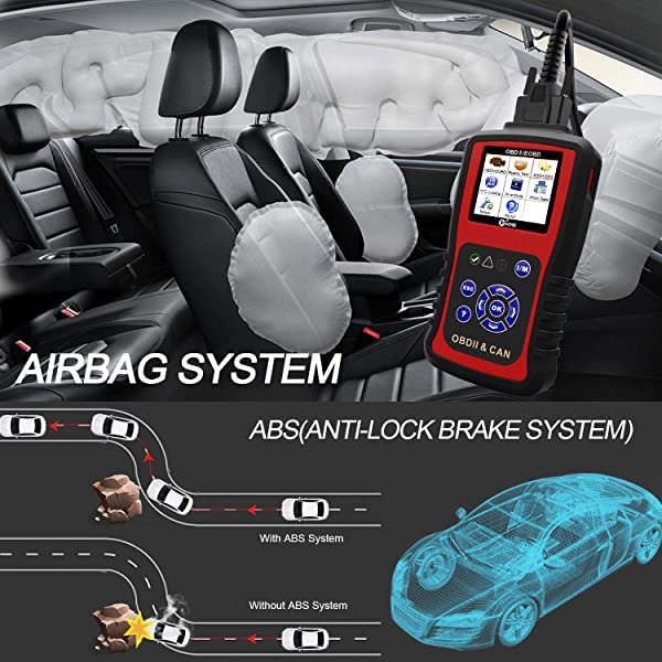 All-in-One OBD2 scanner provides all OBD2 functions along with its ABS and SRS features