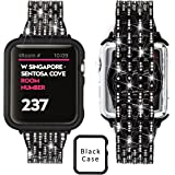 Ezzdo Apple Watch Diamond Band, Rhinestone Luxury Diamond Stainless Steel Replacement Bands With Case For Apple Watch 38mm 42mm series 1/2/3