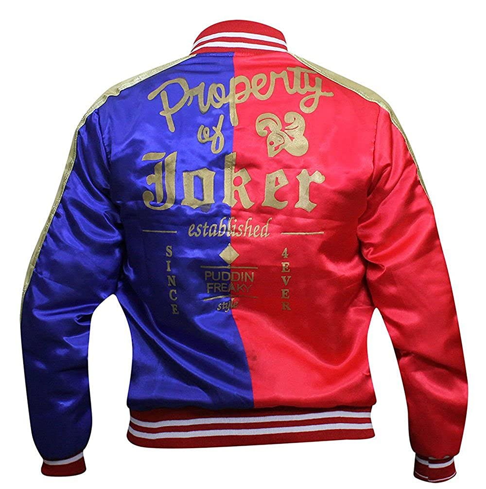 Red Smoke Harley Quinn Suicide Squad Property of Joker Bomber Jacket Costume