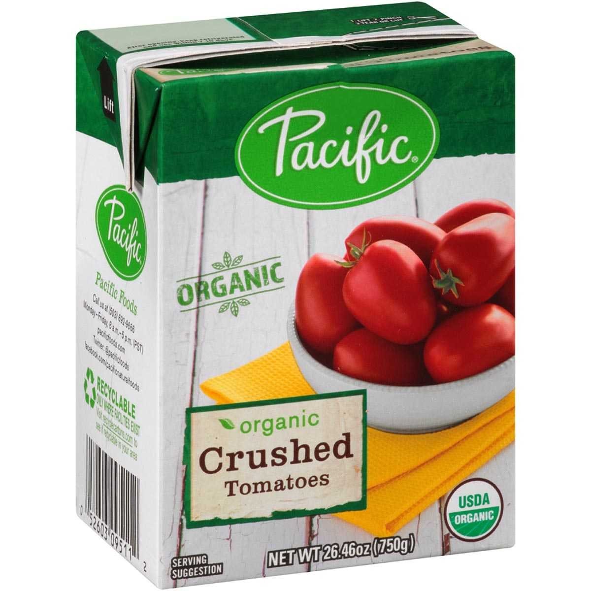 Pacific Foods Organic Crushed Tomatoes, 26.46 Ounce (Pack of 12)