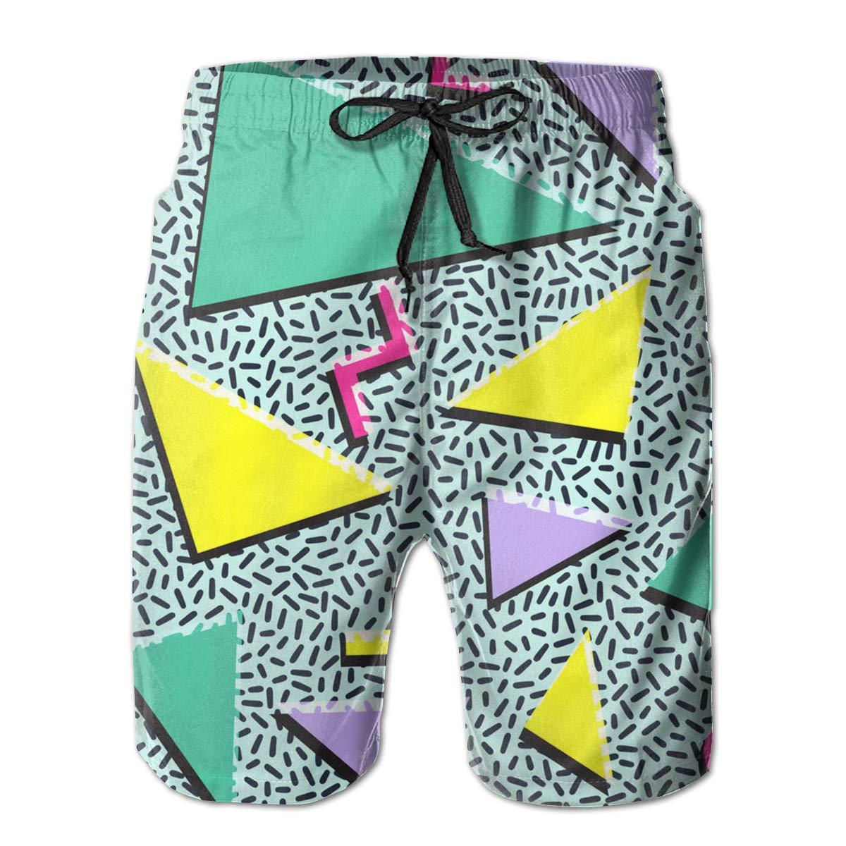 Mens Vintage 80S 90S Fashion Style Design Beach Surfing Board Shorts Swim Trunks Pants