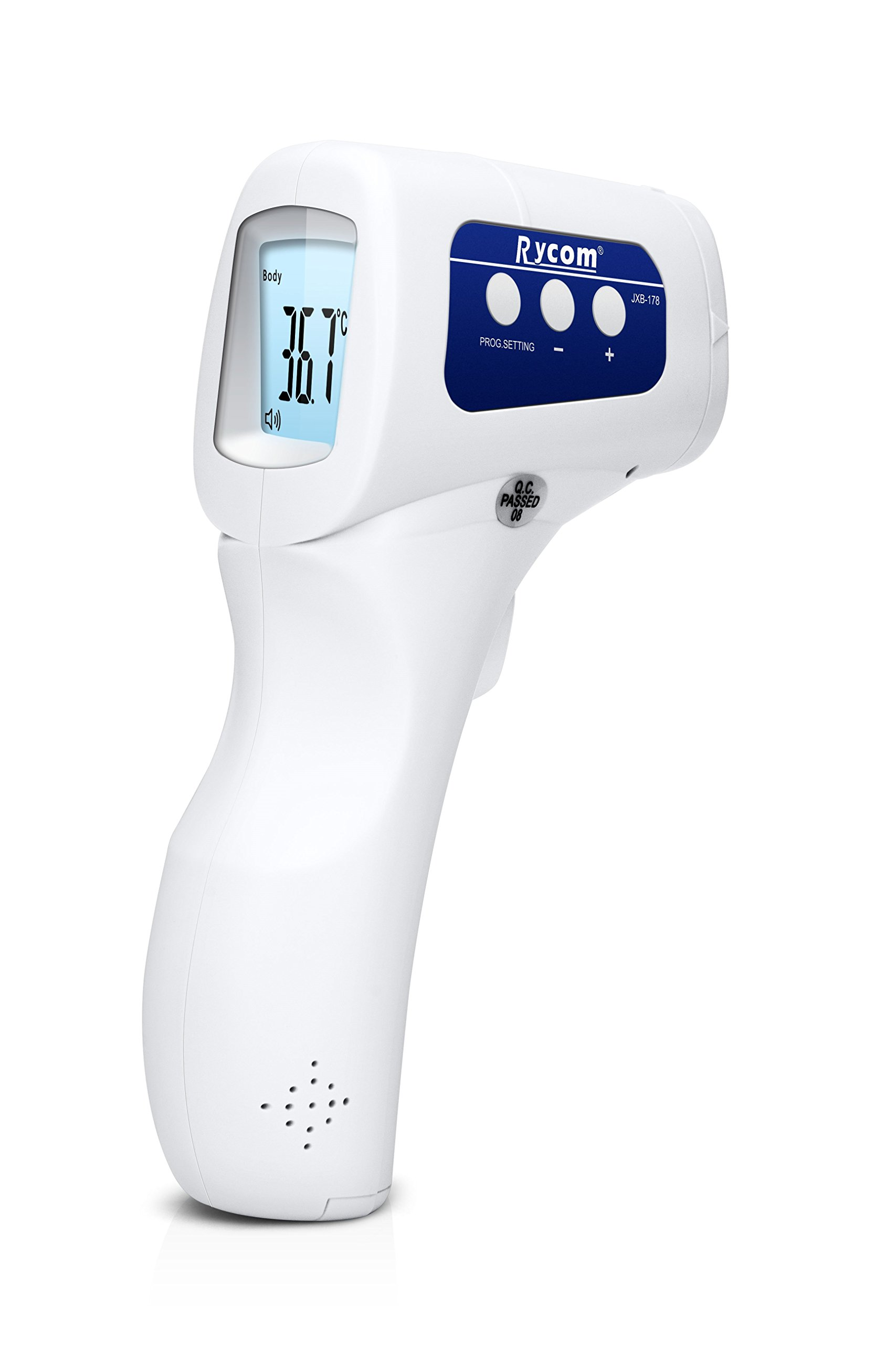 Rycom Portable Infrared Forehead No-contact Non-touch LCD Baby Fever Thermometer 4 in 1 Multifunctional Medical Home Healthcare Products 100% Safe For Kids Infant Baby