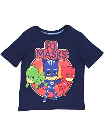 PJ Masks Boys Toddler Navy Blue Short Sleeve Tee (2T, Navy Blue)
