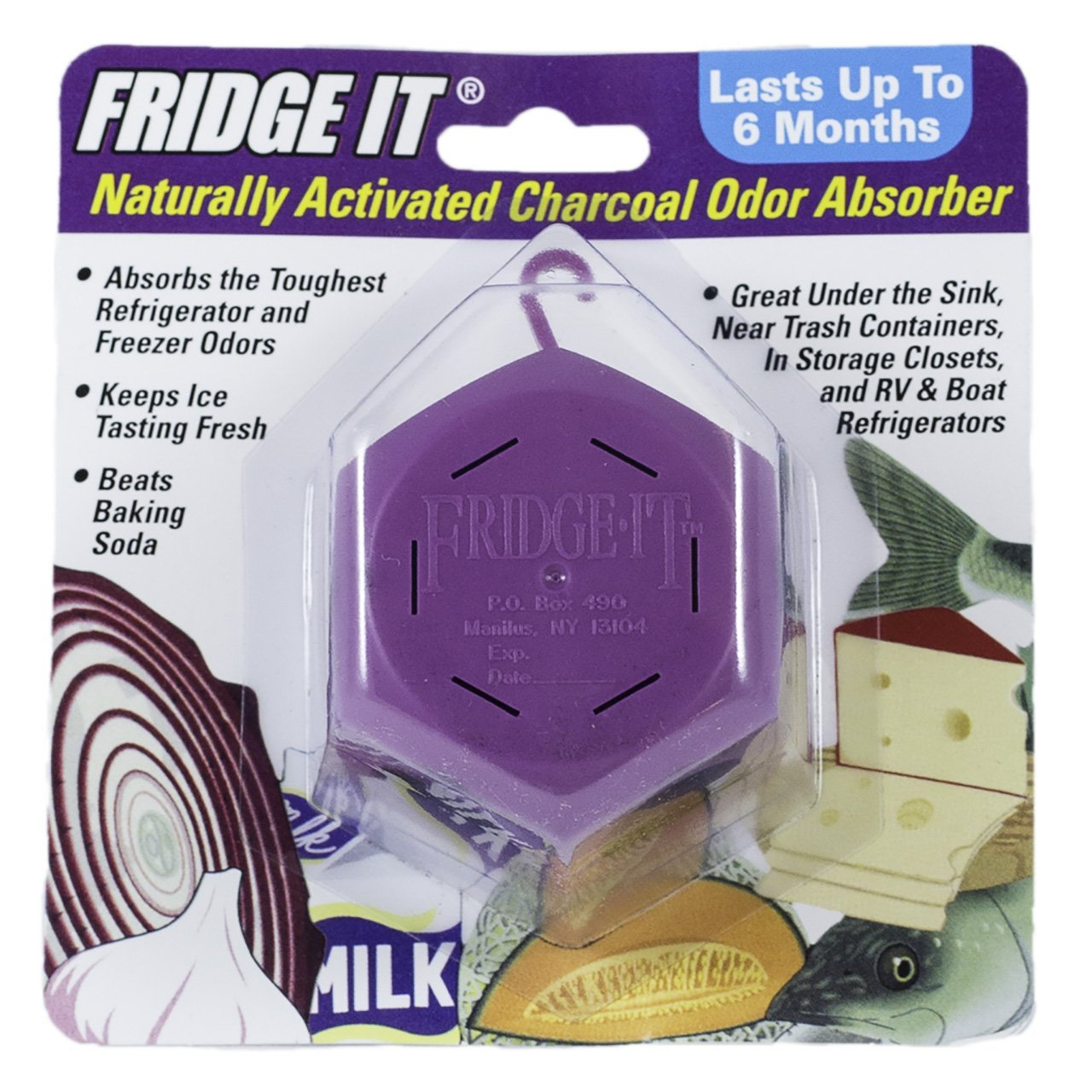 Innofresh Fridge-It Cube - Activated Charcoal Odor Absorber - 6 Pack. The Natural Fridge Deodorizer and Air Freshener. Fragrance Free, Lasts up to 6-Months
