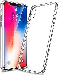 Girlscases® | iPhone XS Hülle, iPhone X / 10 Hülle | Case Schutzhülle aus Silikon Transparent Crystal Clear Ultra Dünn durchsichtige Silikon Schutzhülle aus TPU für iPhone XS & iPhone X & iPhone 10