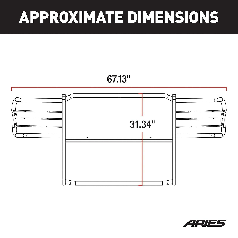 ARIES 9045 1-1//2-Inch Black Steel Grill Guard Select Nissan Xterra