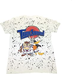 6869ac32c space jam Tune Squad Bugs Bunny Taz Daffy Duck Speckled Front T Shirt