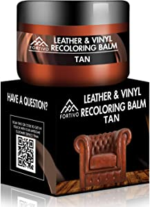 Leather Repair Kits for Couches - Leather Color Restorer for Furniture, Car Seats, Furniture - Leather Recoloring Balm Leather Repair Cream Leather Repair for Upholstery : Tan Brown