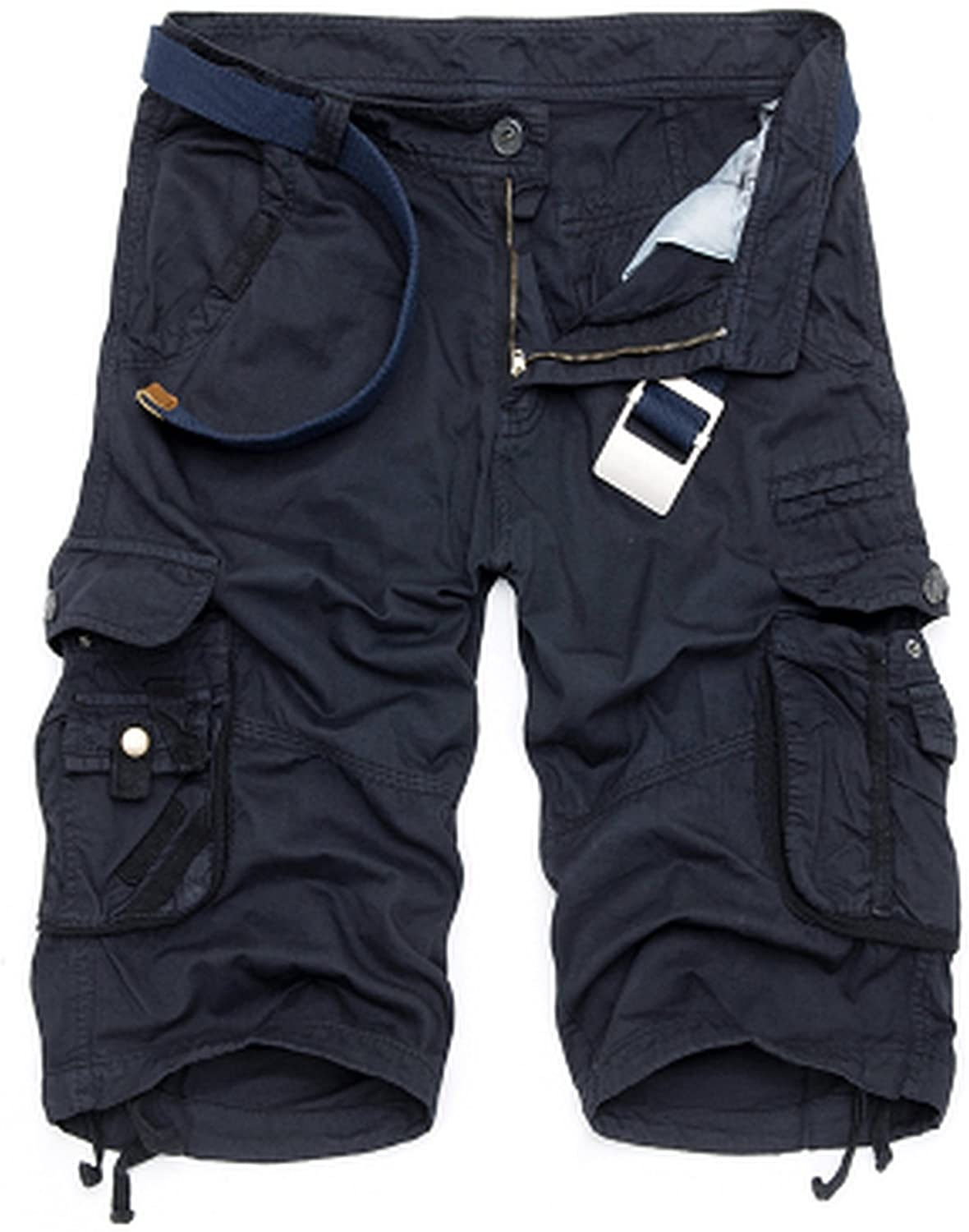 Men 2019 New Mens Casual Shorts Male Loose Work Shorts Plus Size 29-44,Dark Blue,31