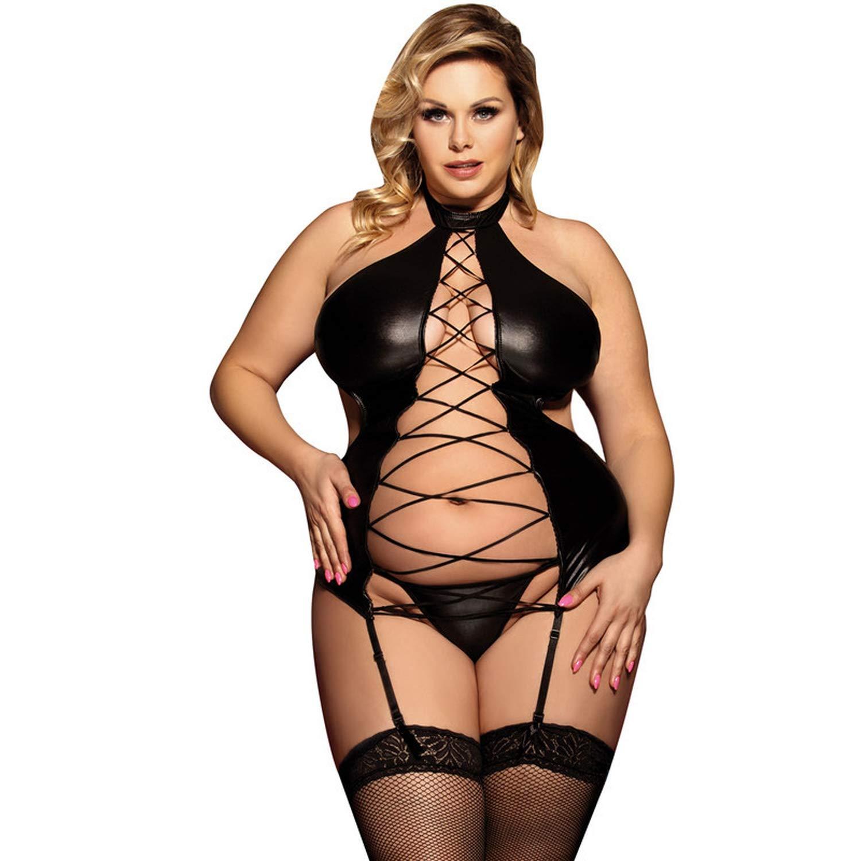 Plus size women in sexy lingerie