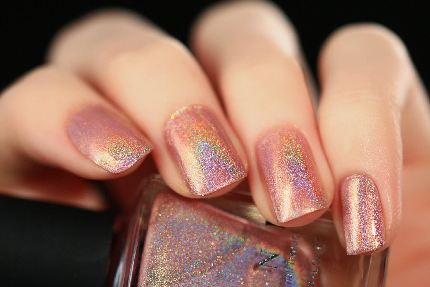 Amazon.com : ILNP Flower Girl - Vintage Pink Holographic Nail Polish ...