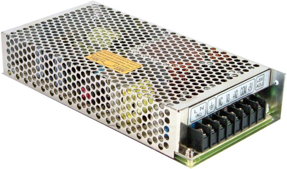 //-5V 0.5A 1A 4.5A 11A 120W Quad Output Switching Power Supply MW Mean Well RQ-125B //-12V