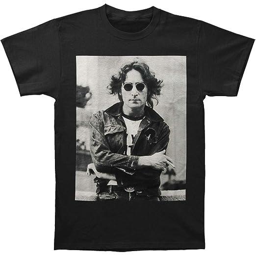 Amazon.com  Beatles Men s John Lennon B W NYC T-shirt X-Large Black ... 1562b6a8e3a