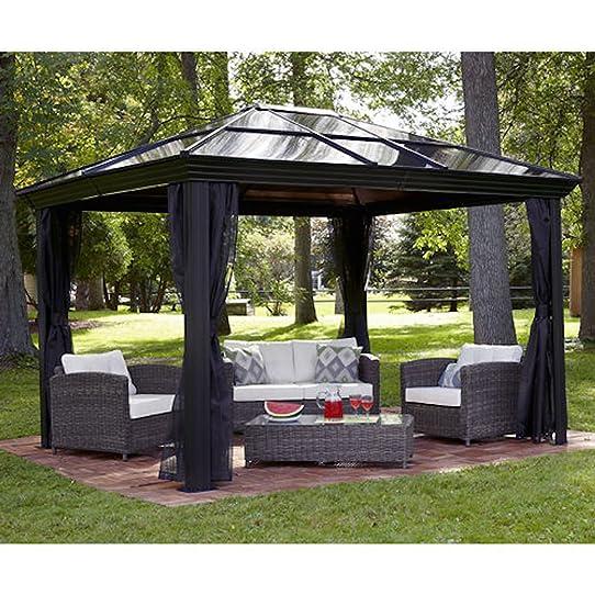 Gazebo Canopy Pergola This 10 X 12 Hardtop Tent Has A Metal