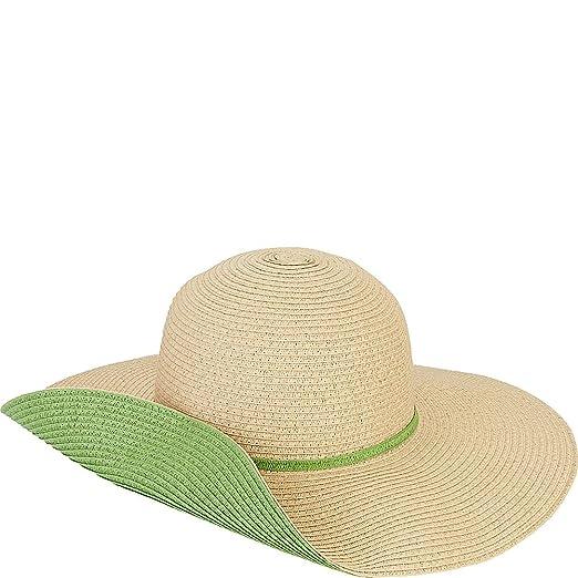 02ab6b932b3 Sun N' Sand Paperbraid Floppy Sun Hat with Contrasting Under Brim and Trim  1484 (