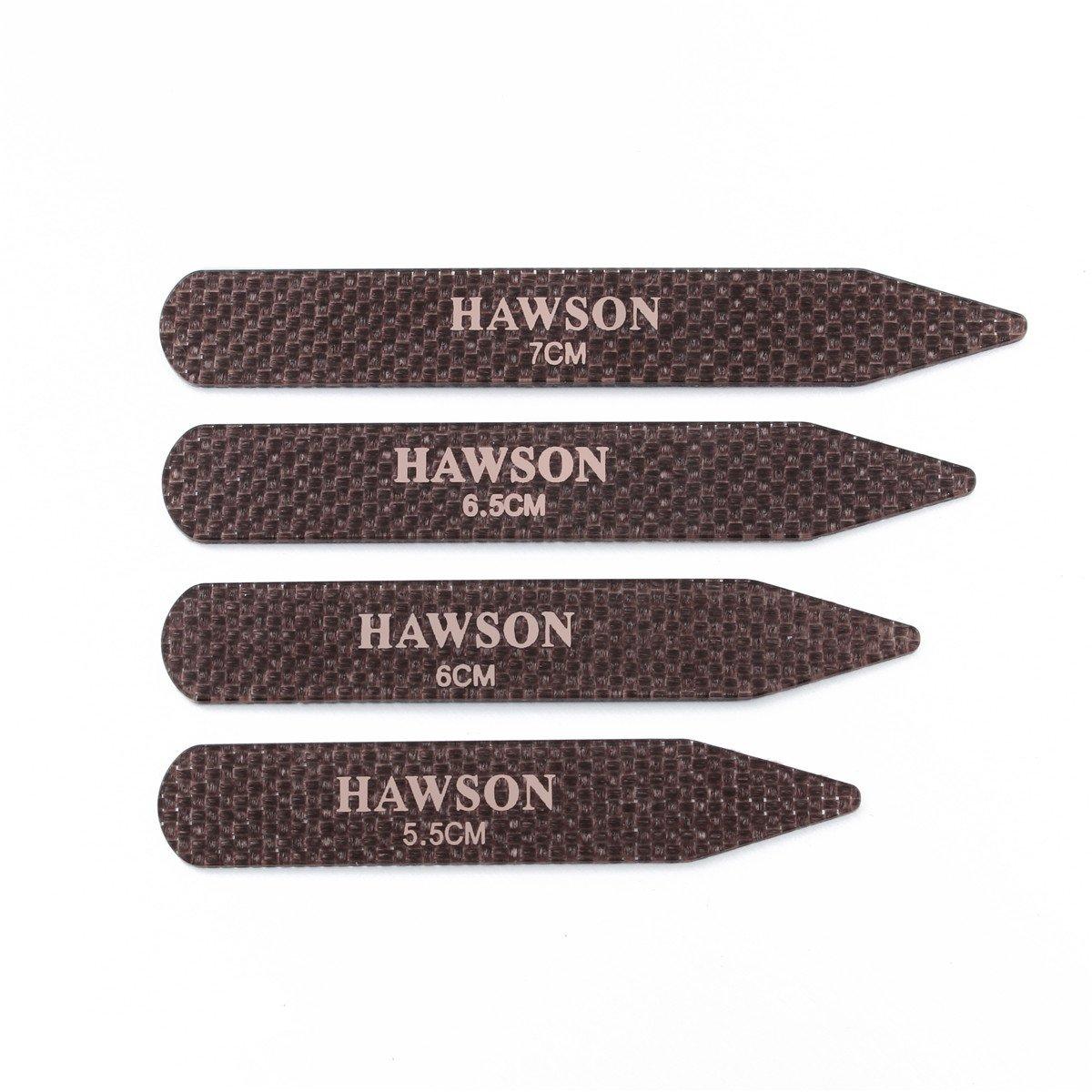HAWSON Carbon Fiber Collar Stays Clips For Man Shirt accessories 4 Sizes 201565