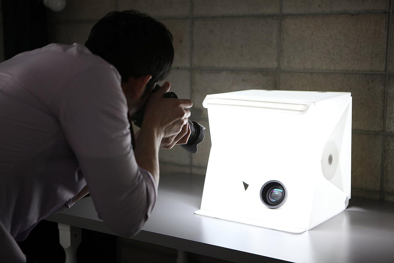 amazoncom foldio2 15inch folding portable lightbox studio for smartphone or dslr camera u0026 photo