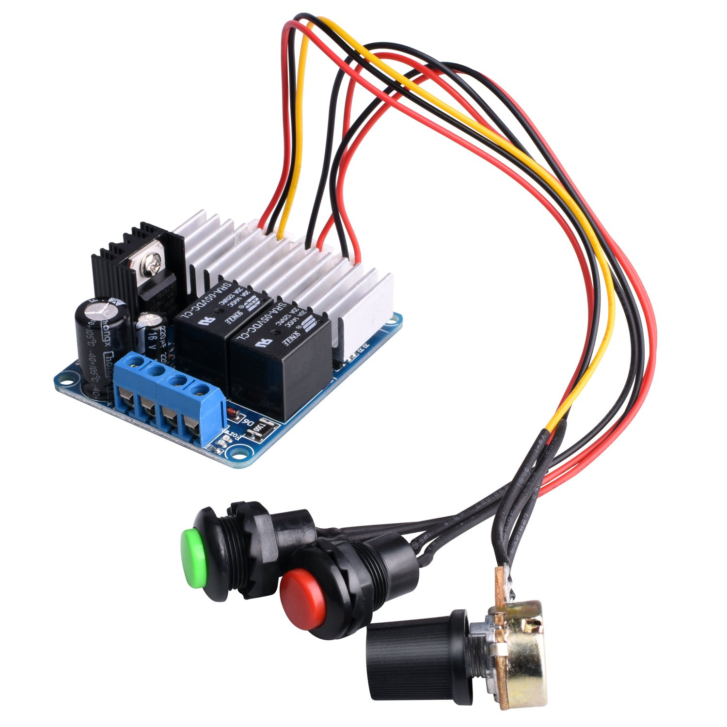 Dc Motor Speed Controllerquimat 7 30v 10a 300w Pwm Supply 5v Vcc And 12v To Input Led Driver Application Circuits Adjustable Reversible Switch Reversing