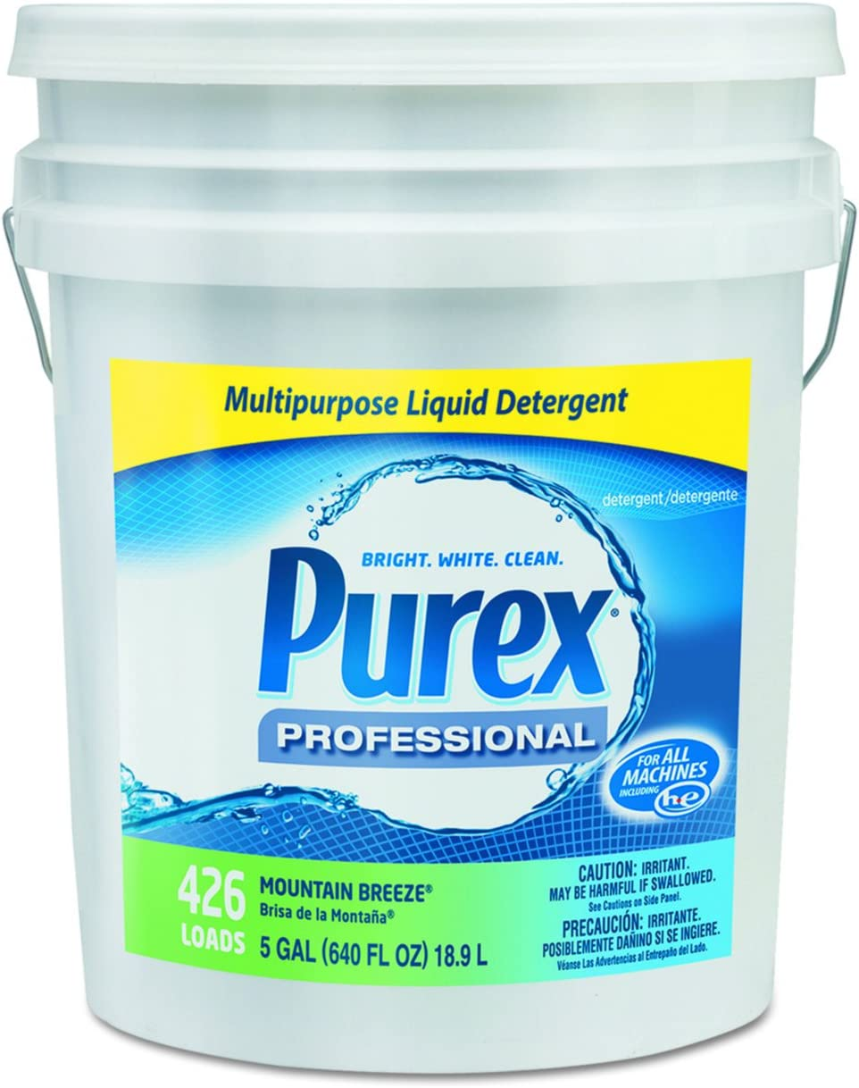 Purex 06354 Concentrate Liquid Laundry Detergent, 5 gal Capacity, Mountain Breeze, Pail