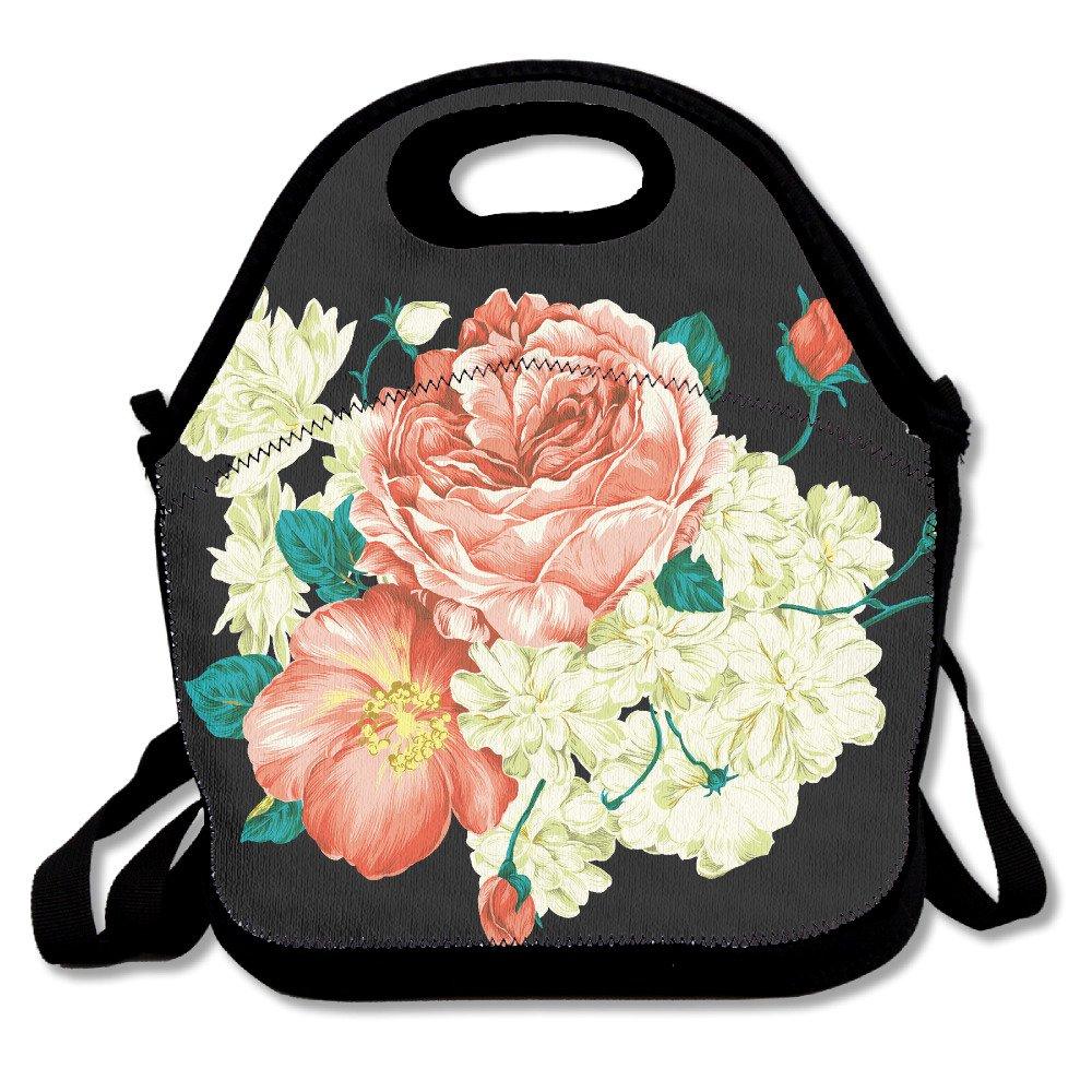 Flower Painting Colorfulランチバッグ調節可能なストラップ   B0711QX5K9