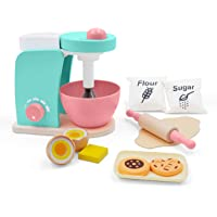 Wooden Kitchen Toy Bake-Cookie Mixer Set(14 pcs)- Interactive Early Learning Toy, Exclusive Egg, Rolling Pin and Cookie…