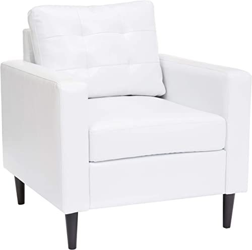 Red Hook Cascais Faux-Leather Accent Chair – White
