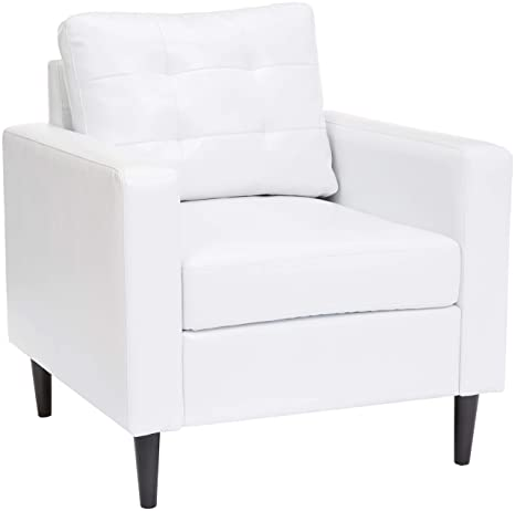 Terrific Red Hook Cascais Faux Leather Accent Chair White Ibusinesslaw Wood Chair Design Ideas Ibusinesslaworg
