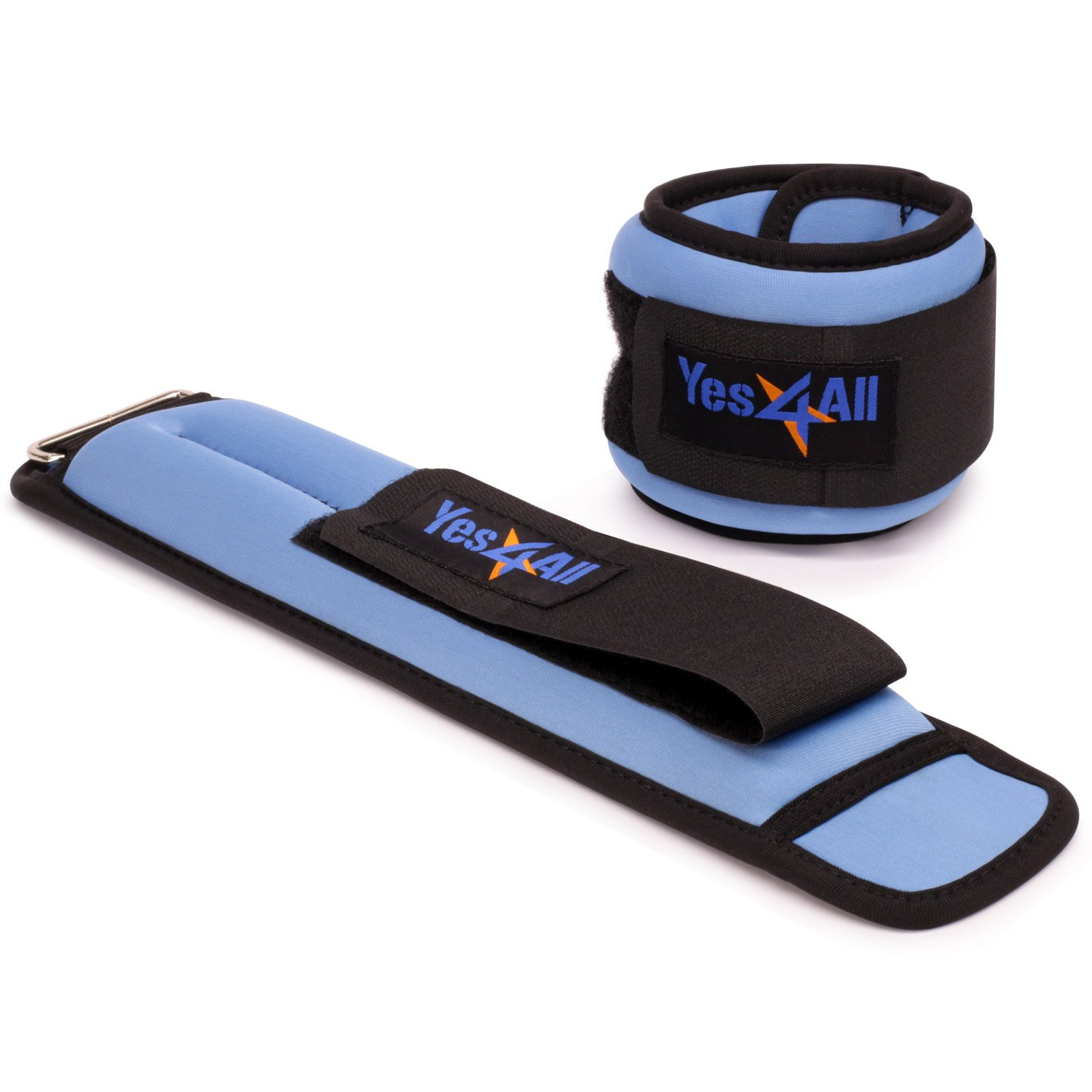 Yes4All Ankle Wrist Weight Pair Set with Adjustable Strap Multi Weights Colors Available
