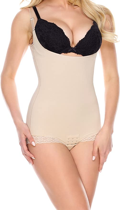 801653295 La-Reve Womens Shapewear Bodysuit Panty - Body Shaper with Tummy Control  Slimmer  Amazon.ca  Clothing   Accessories