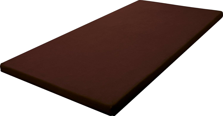 SLEEple スリープル 高反発マットレス 8cm厚 高反発ウレタン 三つ折りバンド付き ダブル ブラウン B00DQNUPUS ダブル|ブラウン ブラウン ダブル