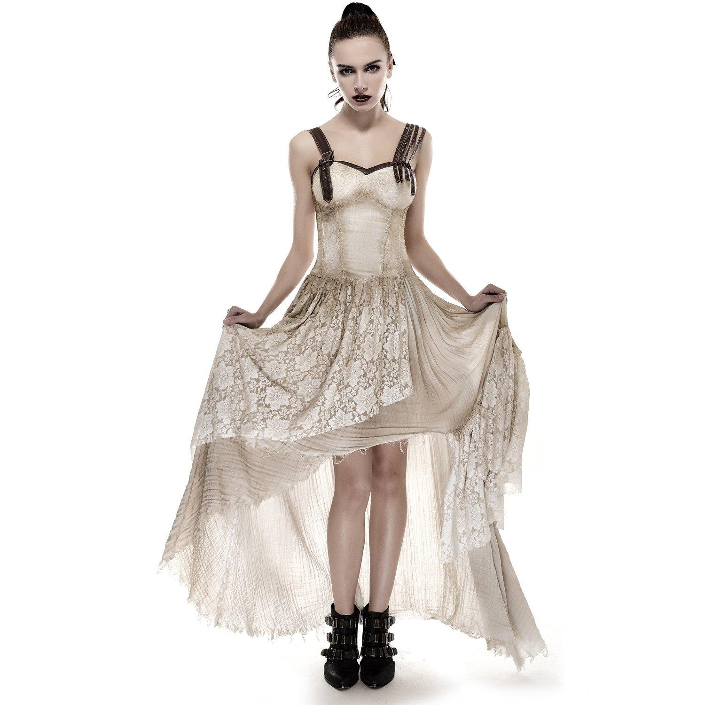 Punk Rave Gothic Victorian Steampunk Corset Dress Floral Lace ...