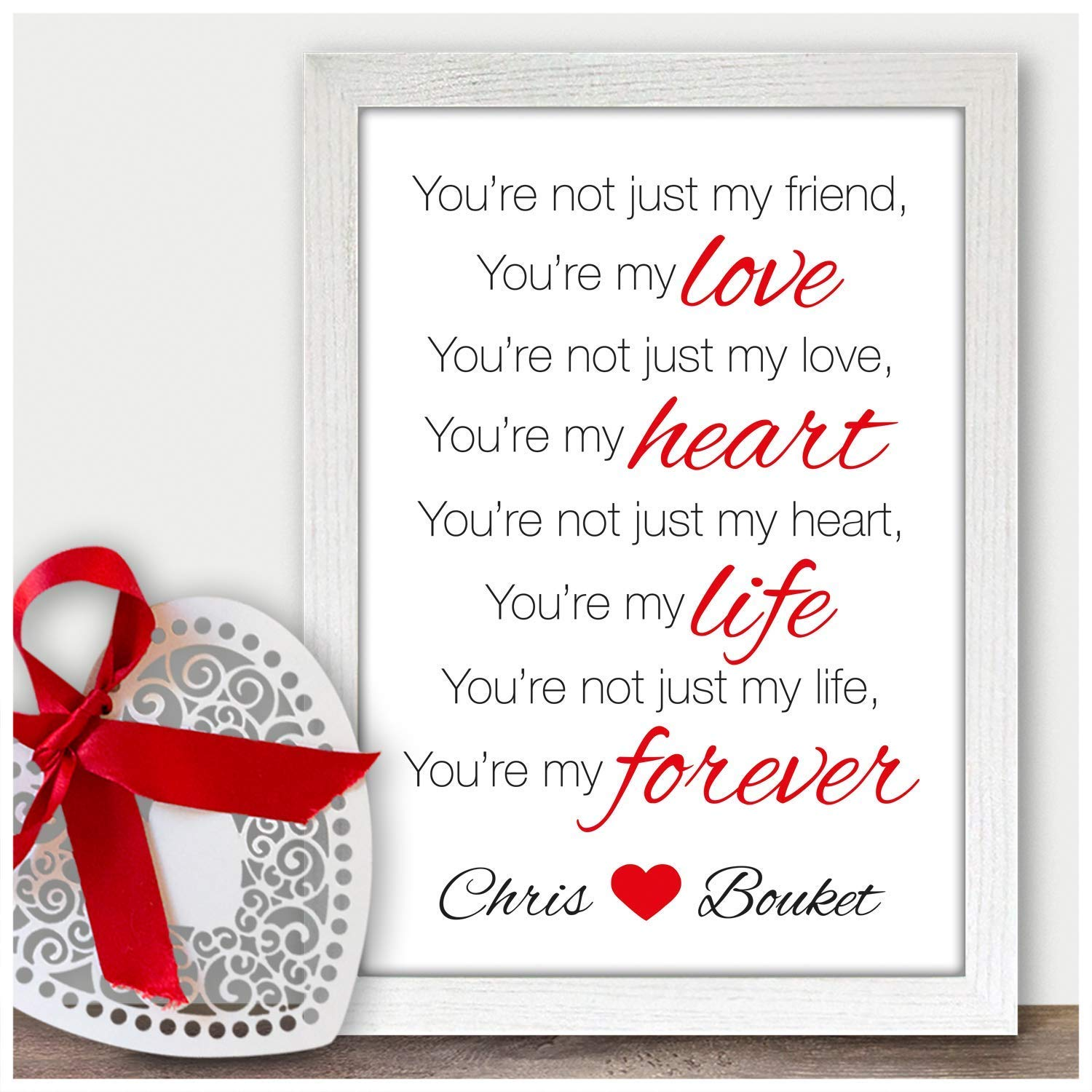 Personalised Love Poem Print Gifts For Wife Girlfriend Partner Couples Fiancee Birthday Her