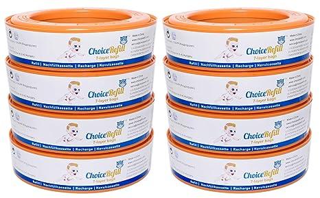 Recarga ChoiceRefill para el sistema Angelcare de cubetas de pañales (pack de 8)