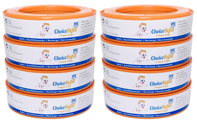 Recarga ChoiceRefill para el sistema Angelcare de cubetas de pañales (pack de 8) product image