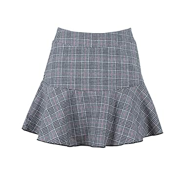 afd18df4cf Vintage High Waist Short Shorts Women Plaid Shorts Skirt Sexy Female  Ruffled Mini Shorts Gingham 2019