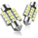 Marsauto DE3175 31mm LED Interior Dome Light Map Bulb Door Courtesy for Car 1.25inch DE3021 DE3022 Festoon Bulbs Pack of…