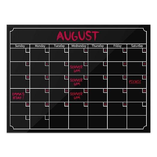 Konesky Tablero de Nevera Magnética Calendario Magnético Mensual ...
