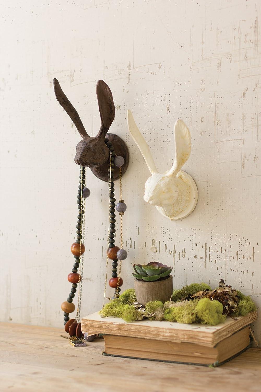 Cast Iron Rabbit Wall Hook (Antique White)