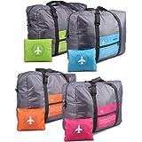 INVODA 4PCS Travel Bag Foldable Clothes Bag Waterproof Storage Shoulder Bag Nylon Duffel for Men Women 32 Liter|(4PCS)